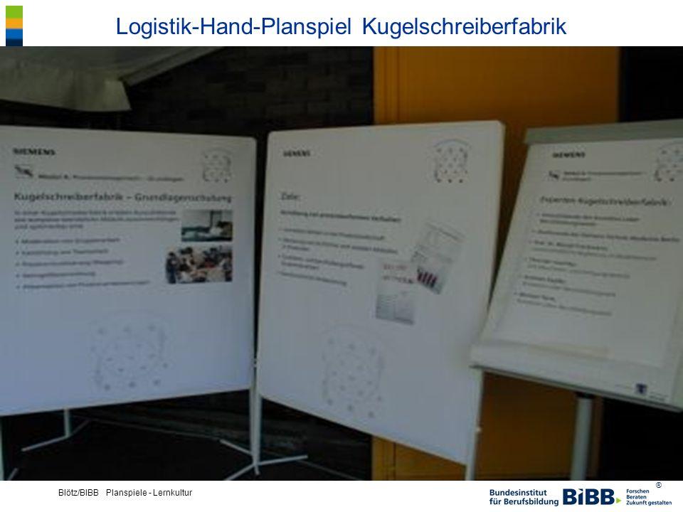 ® Blötz/BIBB Planspiele - Lernkultur Logistik-Hand-Planspiel Kugelschreiberfabrik