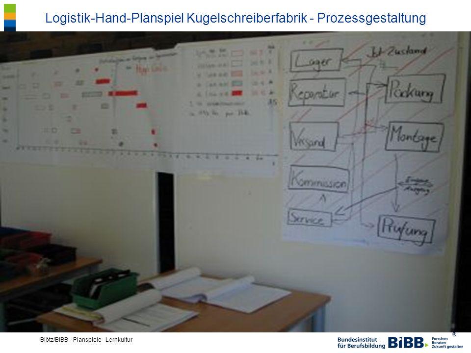 ® Blötz/BIBB Planspiele - Lernkultur Logistik-Hand-Planspiel Kugelschreiberfabrik - Prozessgestaltung