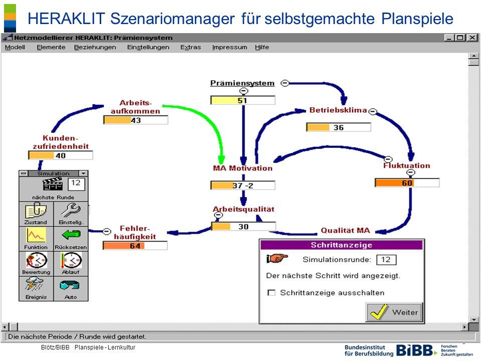® Blötz/BIBB Planspiele - Lernkultur HERAKLIT Szenariomanager für selbstgemachte Planspiele