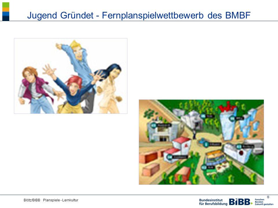 ® Blötz/BIBB Planspiele - Lernkultur Jugend Gründet - Fernplanspielwettbewerb des BMBF