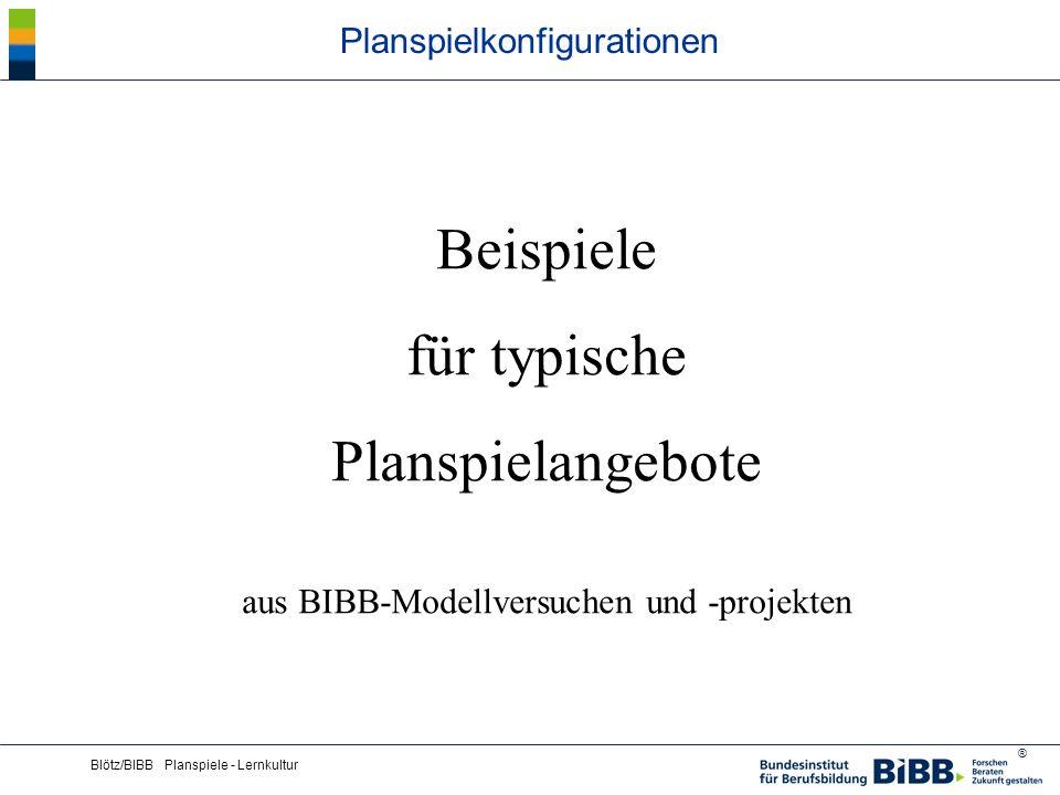 ® Blötz/BIBB Planspiele - Lernkultur Planspielkonfigurationen Der Planspiel-Klassiker: Computergestütztes Wettbewerbsplanspiel zur Unternehmensführung