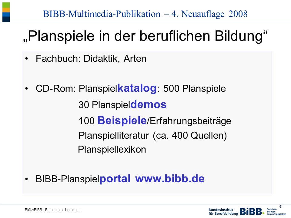 ® Blötz/BIBB Planspiele - Lernkultur Planspiele in der beruflichen Bildung Fachbuch: Didaktik, Arten CD-Rom: Planspiel katalog : 500 Planspiele 30 Pla