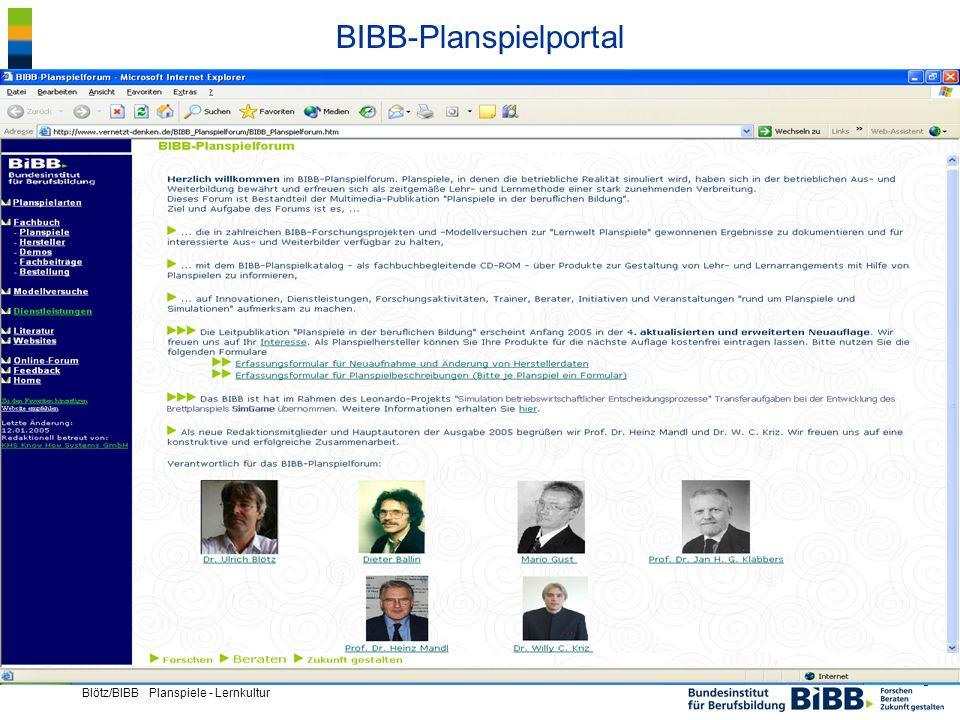 ® Blötz/BIBB Planspiele - Lernkultur BIBB-Planspielportal