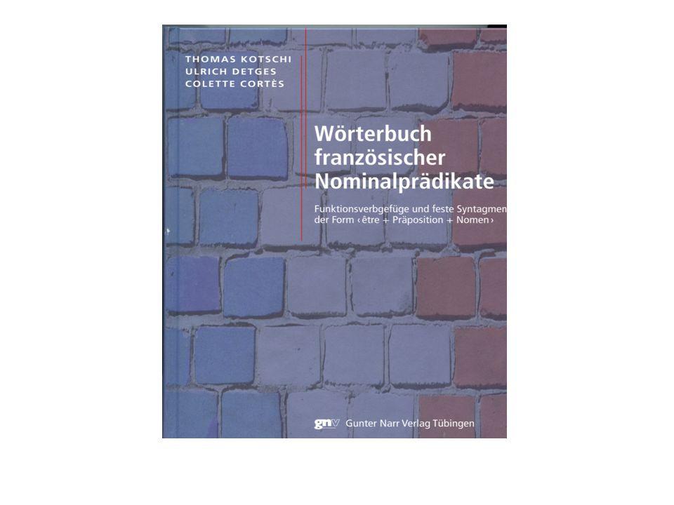 Konzept Spezialisierte Thematik: Funktionsverbgefüge Spezialisierte Informationen Konstruktionswörterbuch