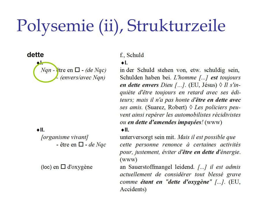 Polysemie (ii), Strukturzeile