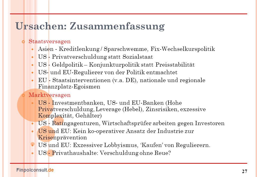 28 Finpolconsult.de Antworten: Finanzsektorsubventionen Neue Bankensubventionen in der EU.