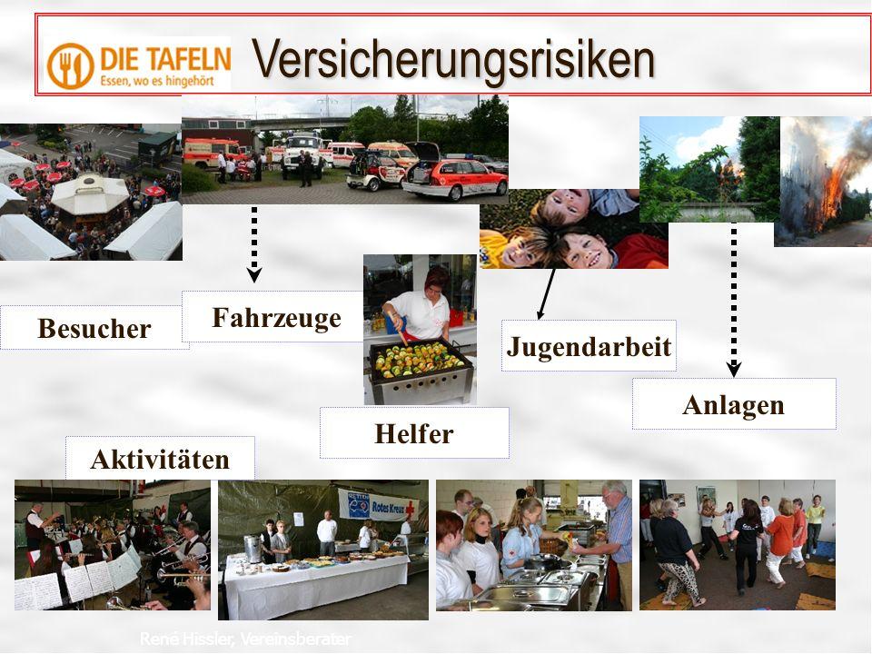 René Hissler, Vereinsberater Helfer Besucher Jugendarbeit Anlagen Fahrzeuge Versicherungsrisiken Aktivitäten