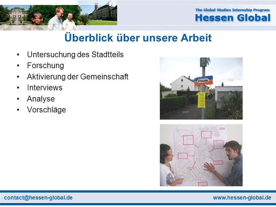 www.hessen-global.decontact@hessen-global.de Bewertung der Spielplätze und Grünflächen Warum.