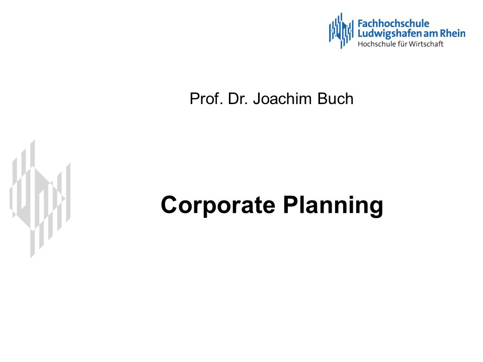Corporate Planning S42 Fallstudie 2 - GuV