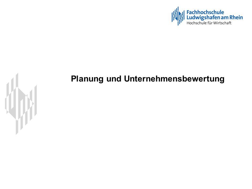 Planung und Unternehmensbewertung