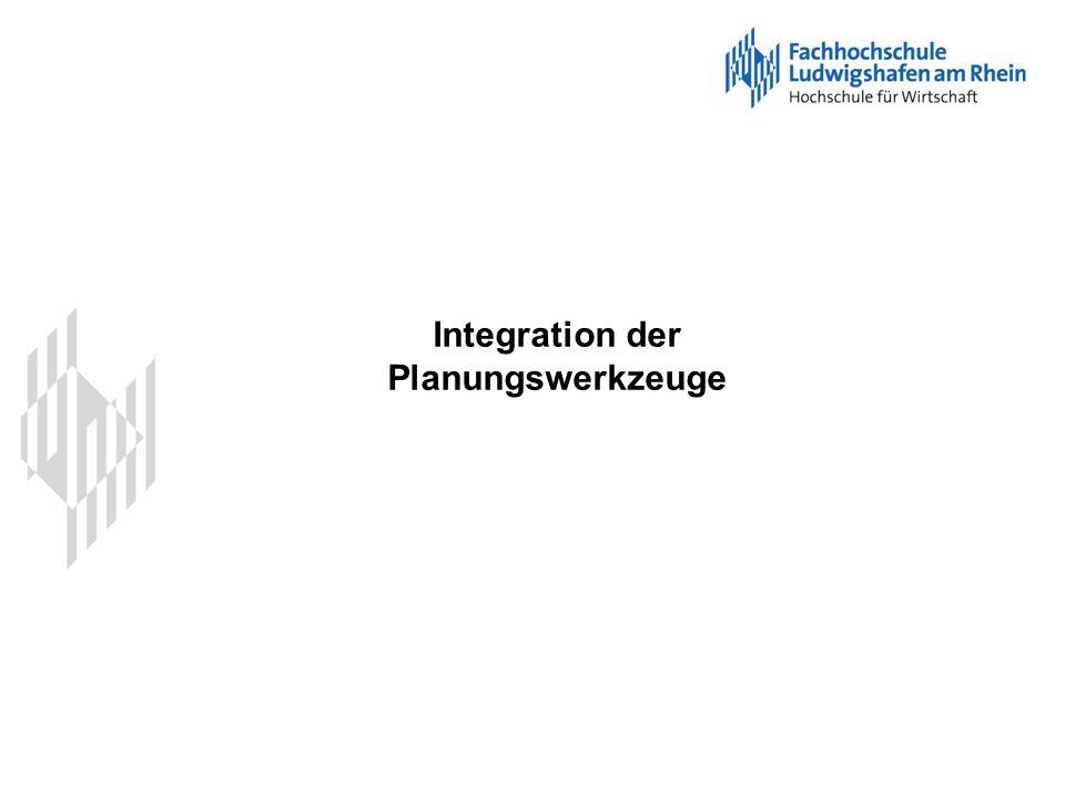 Integration der Planungswerkzeuge