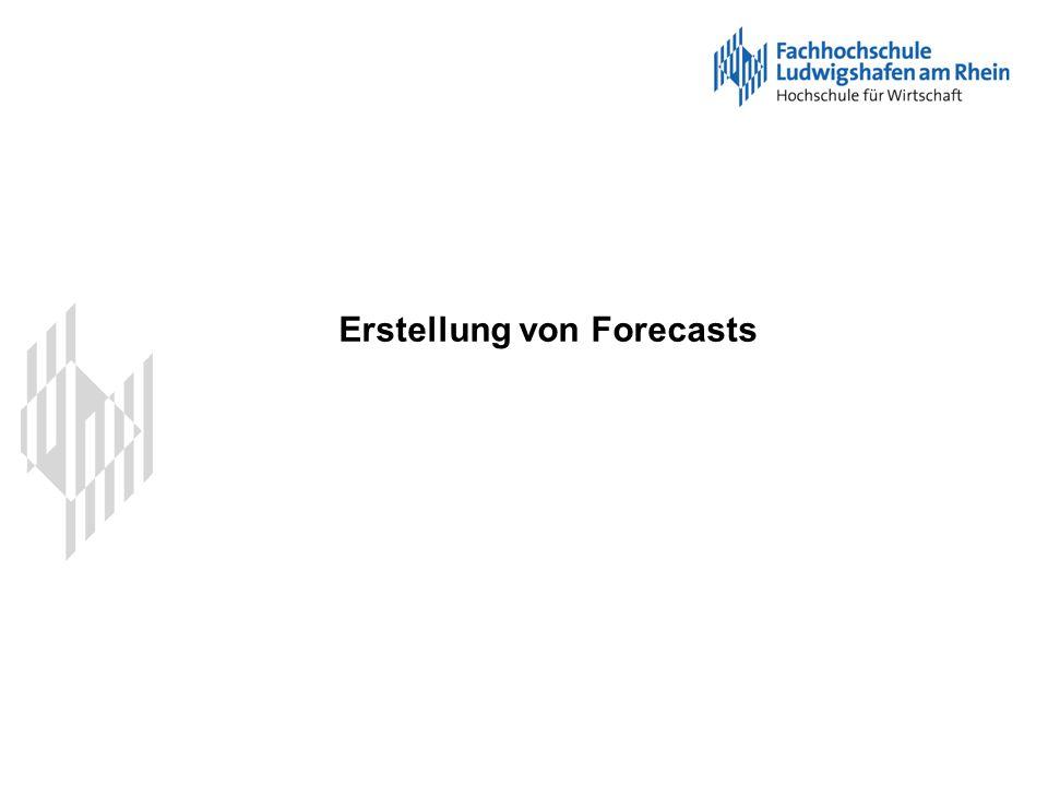 Erstellung von Forecasts