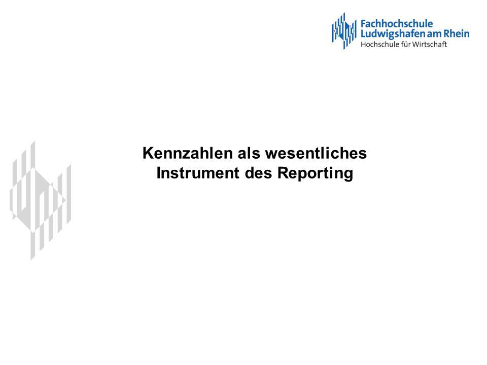 Kennzahlen als wesentliches Instrument des Reporting