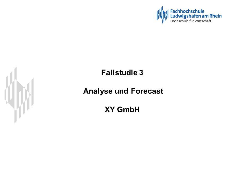Fallstudie 3 Analyse und Forecast XY GmbH