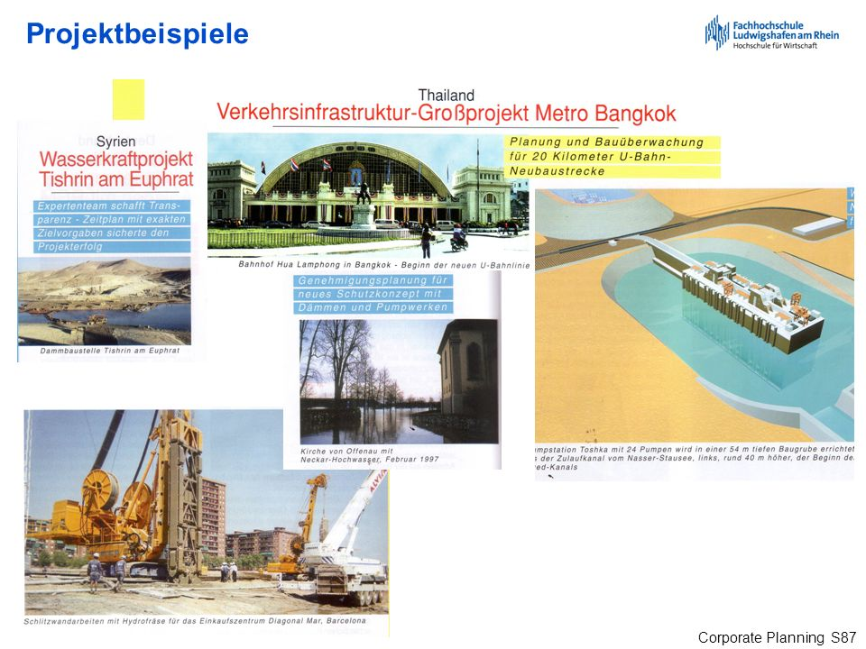 Corporate Planning S87 Projektbeispiele