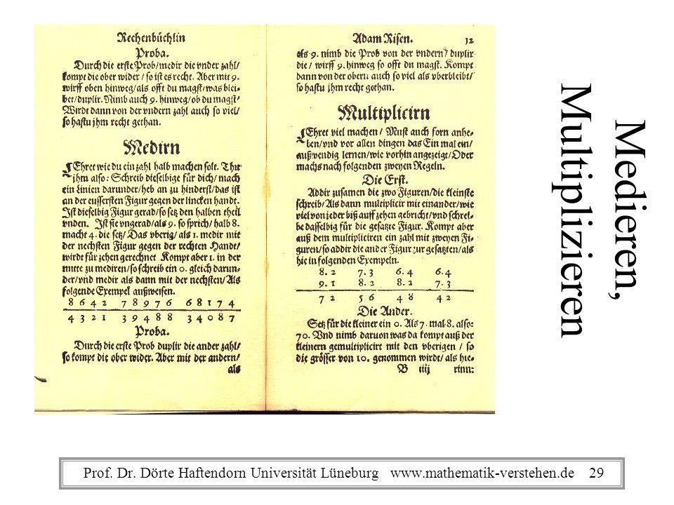 Medieren, Multiplizieren Prof. Dr. Dörte Haftendorn Universität Lüneburg www.mathematik-verstehen.de 29