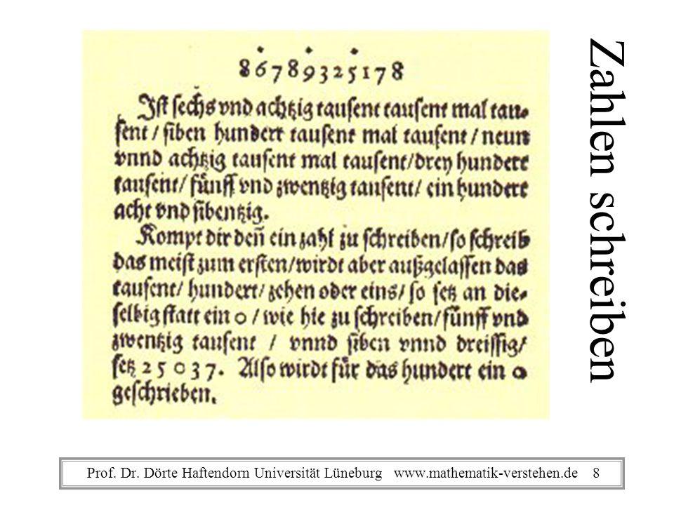 Von den Linien Die erst und underste bedeut eins / die ander Ob ihr zehen / die dritt hundert / die vierdt tausent.