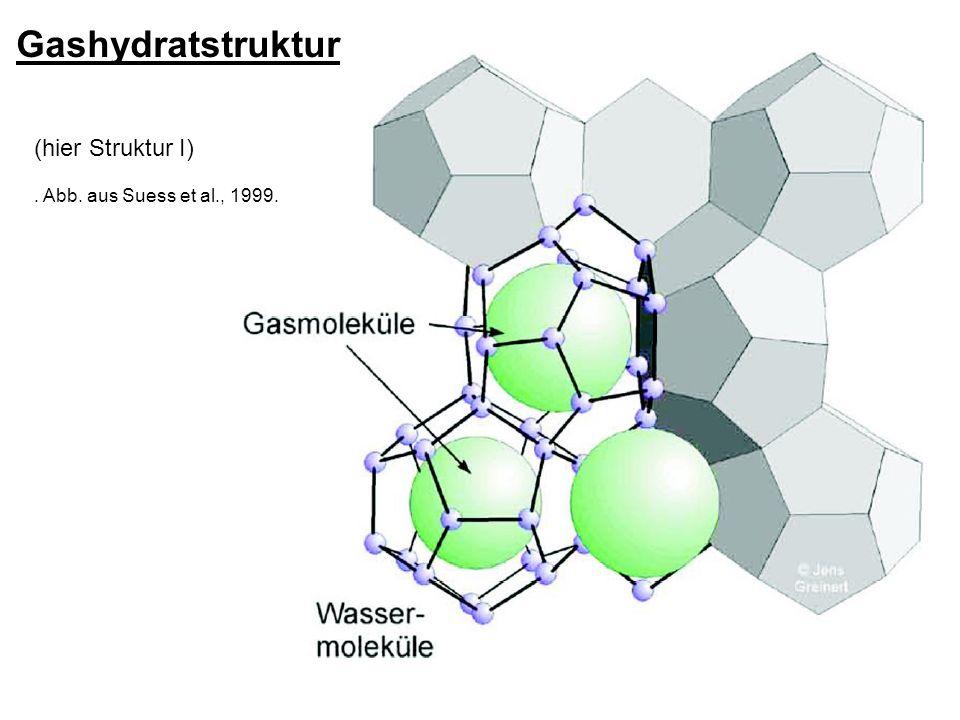 Gashydratstruktur (hier Struktur I). Abb. aus Suess et al., 1999.