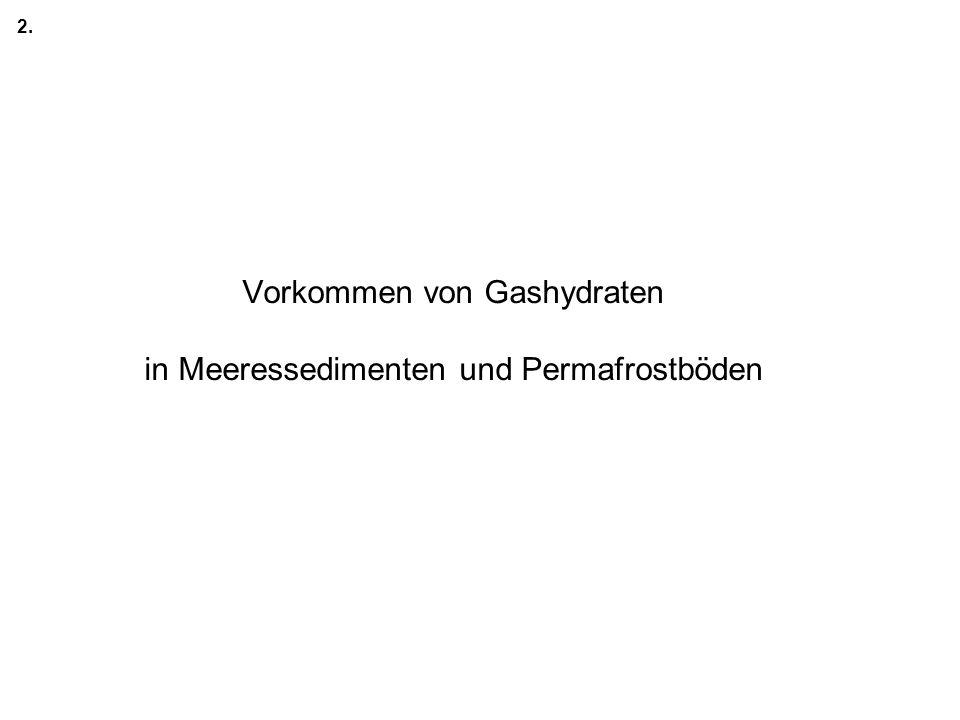 Vorkommen von Gashydraten in Meeressedimenten und Permafrostböden 2.