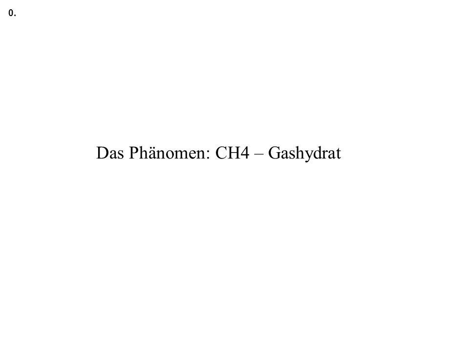 Das Phänomen: CH4 – Gashydrat 0.