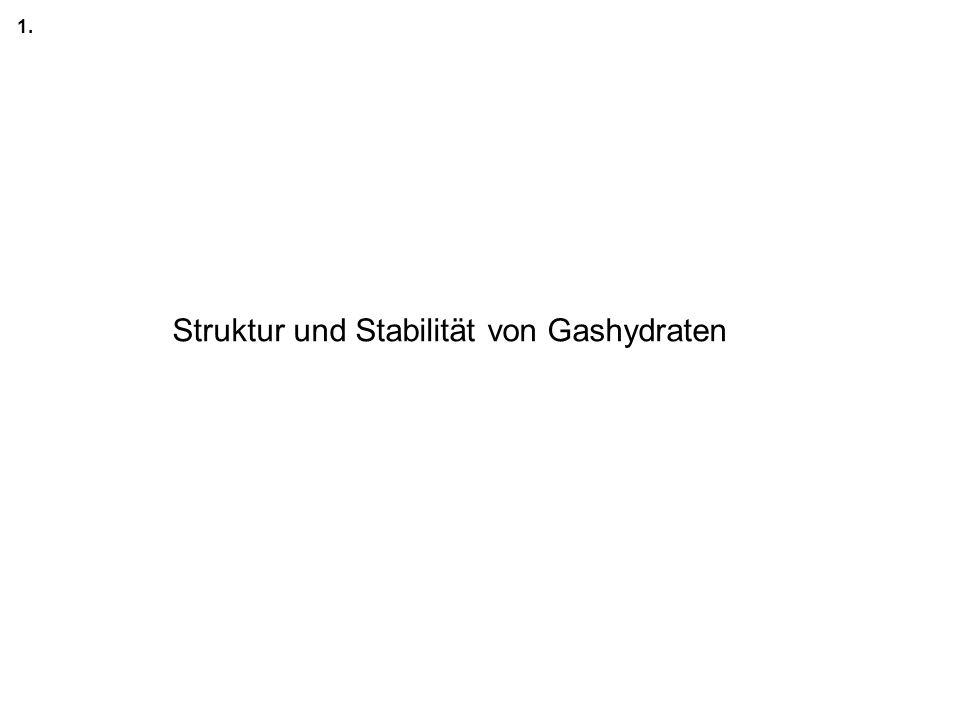 Struktur und Stabilität von Gashydraten 1.