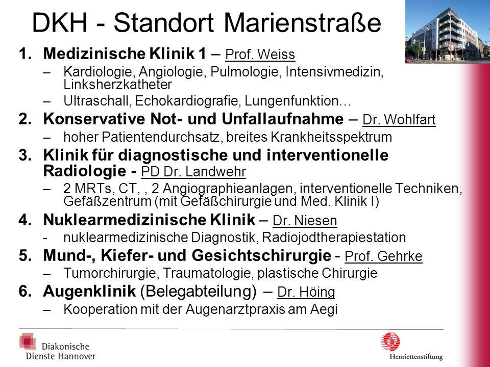 DKH - Standort Marienstraße 7.Operatives Zentrum a)Klinik für Unfall- und Wiederherstellungschirurgie – Dr.