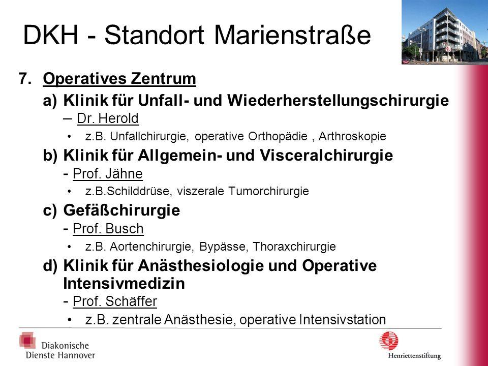 DKH - Standort Kirchrode 1.Klinik für Geburtshilfe und Perinatologie - Prof.