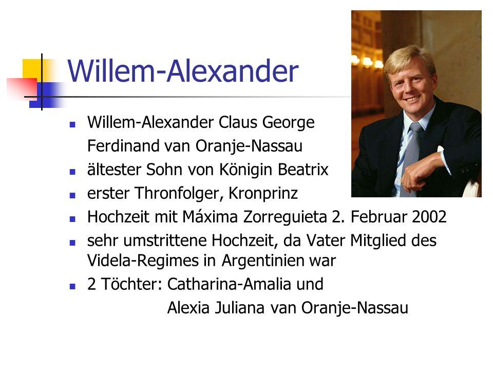 Willem-Alexander Willem-Alexander Claus George Ferdinand van Oranje-Nassau ältester Sohn von Königin Beatrix erster Thronfolger, Kronprinz Hochzeit mi