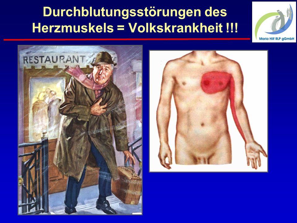 Durchblutungsstörungen des Herzmuskels = Volkskrankheit !!!