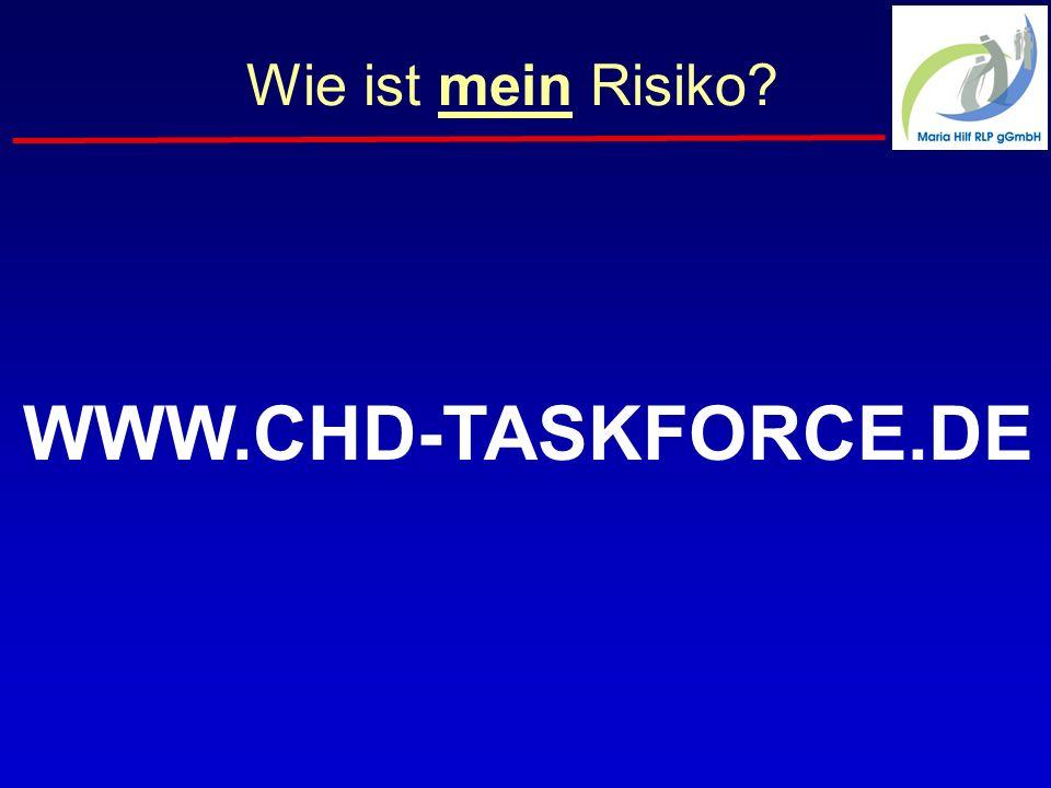 Wie ist mein Risiko? WWW.CHD-TASKFORCE.DE