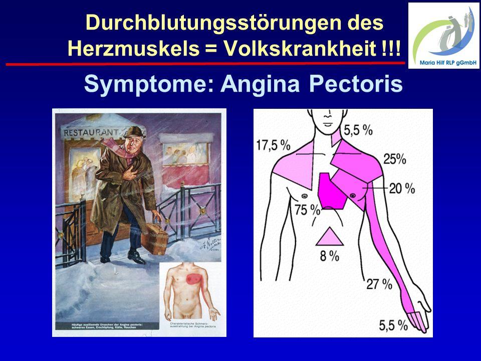 Durchblutungsstörungen des Herzmuskels = Volkskrankheit !!! Symptome: Angina Pectoris