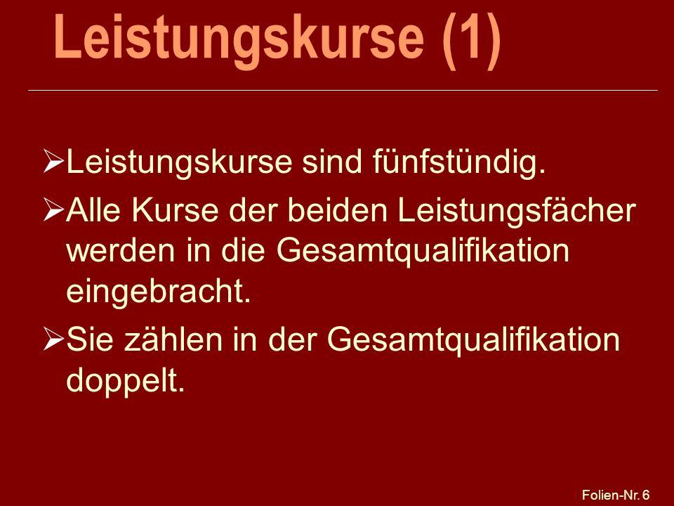 Folien-Nr.37 5. PF: Seminarkurs Spezieller zweisemestriger Seminarkurs, 1.