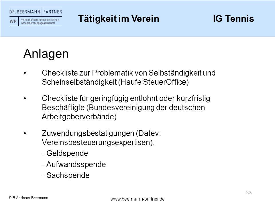 22 Anlagen Checkliste zur Problematik von Selbständigkeit und Scheinselbständigkeit (Haufe SteuerOffice) Checkliste für geringfügig entlohnt oder kurz