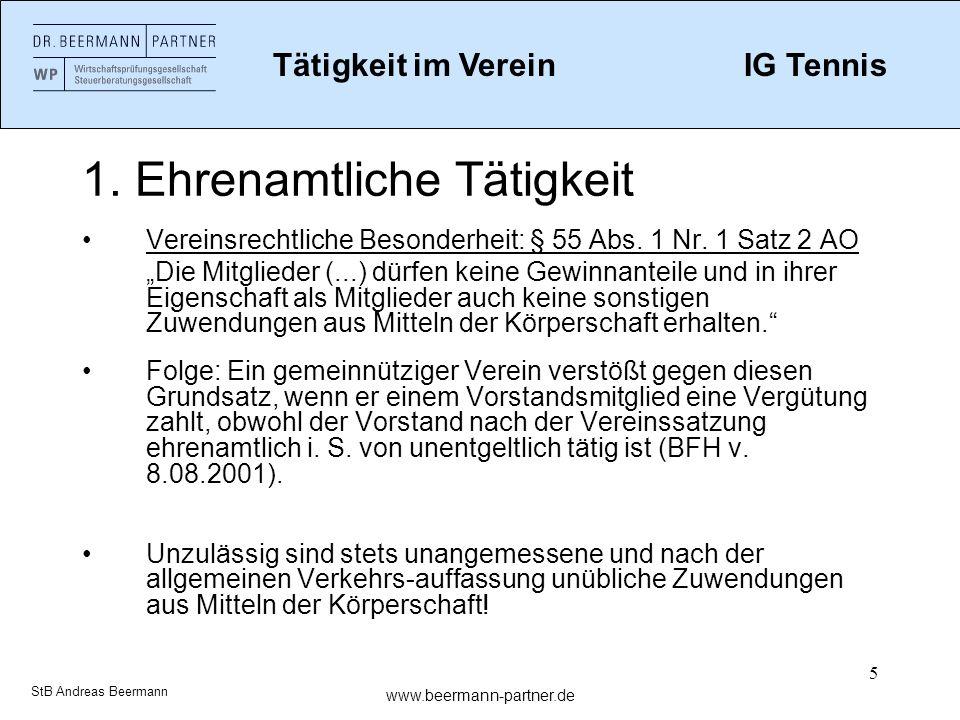 16 2.Der Verein als Arbeitgeber Besonderheiten bei Schülern Zulässigkeit nach JArbSchG beachten.