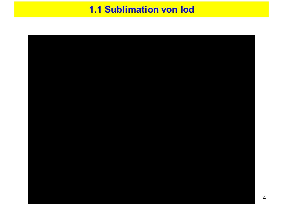 4 1.1 Sublimation von Iod