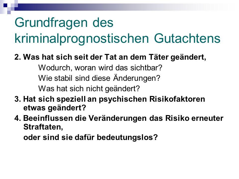 Grundfragen des kriminalprognostischen Gutachtens 2.