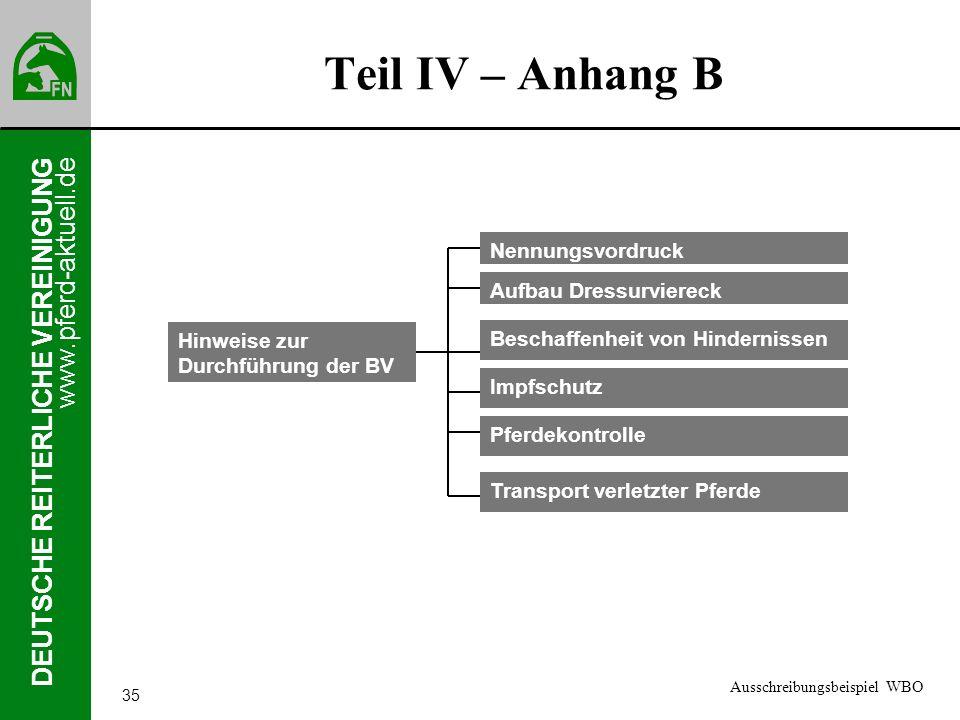 www.pferd-aktuell.de DEUTSCHE REITERLICHE VEREINIGUNG 35 Teil IV – Anhang B Hinweise zur Durchführung der BV Nennungsvordruck Aufbau Dressurviereck Be