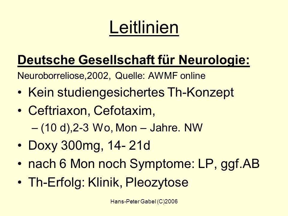 Hans-Peter Gabel (C)2006 Leitlinien Deutsche Gesellschaft für pädiatrische Infektologie (DGPI), 1997; Quelle: AWMF online –Erythema migrans, Lymphozyt