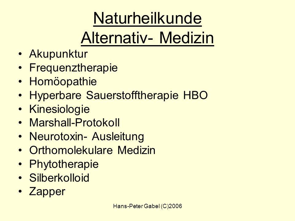Hans-Peter Gabel (C)2006 ILADS - Therapie Berücksichtigt Co- Infektionen Therapie individuell Therapie- Dauer unbestimmt Kombinationen – Schulmedizin