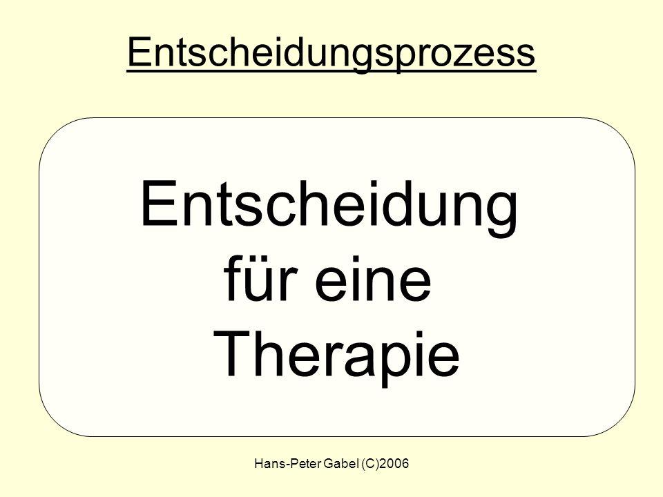 Hans-Peter Gabel (C)2006 Therapie- Optionen Diagnose: Borreliose SchulmedizinNHV Schulmedizin + NHV Keine Therapie