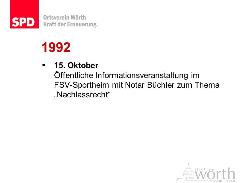 15. Oktober Öffentliche Informationsveranstaltung im FSV-Sportheim mit Notar Büchler zum Thema Nachlassrecht