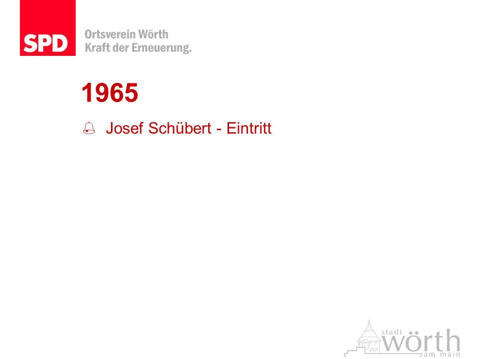 1965 Josef Schübert - Eintritt