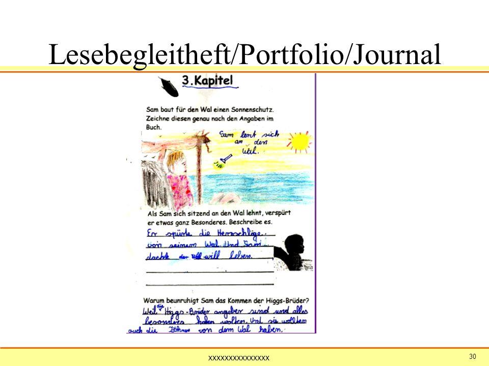 xxxxxxxxxxxxxxx 30 Lesebegleitheft/Portfolio/Journal ( Sams Wal )