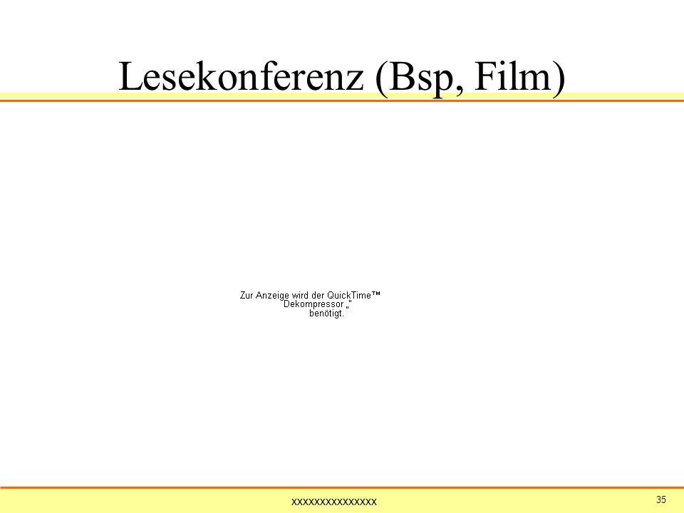 xxxxxxxxxxxxxxx 35 Lesekonferenz (Bsp, Film)