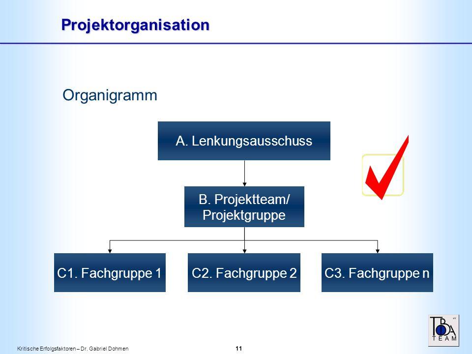 Kritische Erfolgsfaktoren – Dr. Gabriel Dohmen 11 Organigramm A.