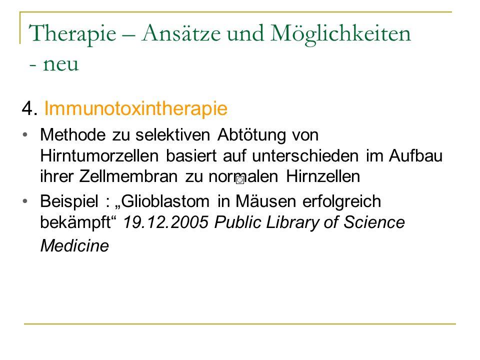 Therapie – Ansätze und Möglichkeiten - neu 4.