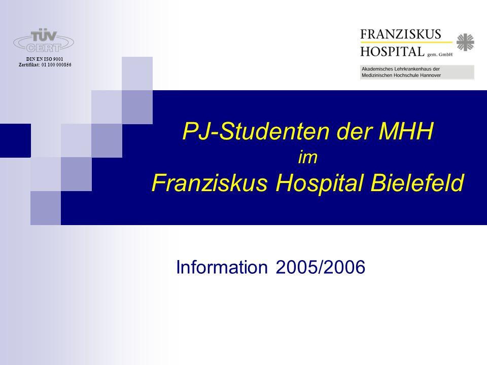 DIN EN ISO 9001 Zertifikat: 01 100 000856 33615 Bielefeld Kiskerstr 26 Telefon: 0521.589 - 0 -1701 ( Frau Strutzberg / Frau Pohl ) Telefax: 0521.589 -1704 Internet: www.franziskus.de E-Mail: info@franziskus.de 33615 Bielefeld Kiskerstrasse 26