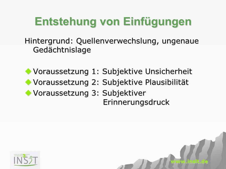 24 www.insit.de Vermeidung Sprache determiniert Denken.
