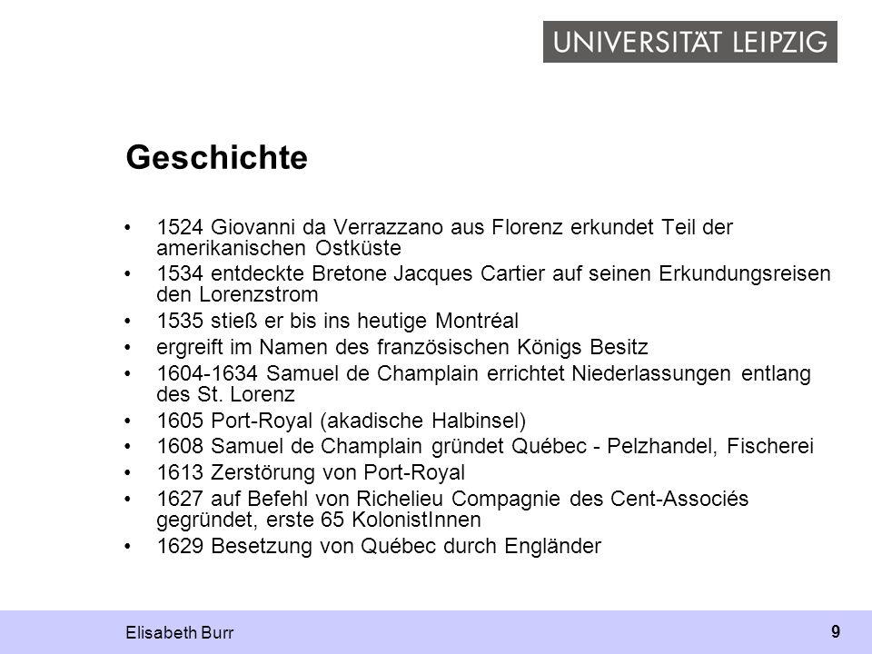 Elisabeth Burr 40 Frankokanadisch Livia Gaudino Fallegger (1998): Mit dem Begriff sekundär werden die muttersprachlichen Varietäten bezeichnet, die, wie das Frankokanadische, als Folge der kolonialen Vergangenheit Frankreichs entstanden sind.