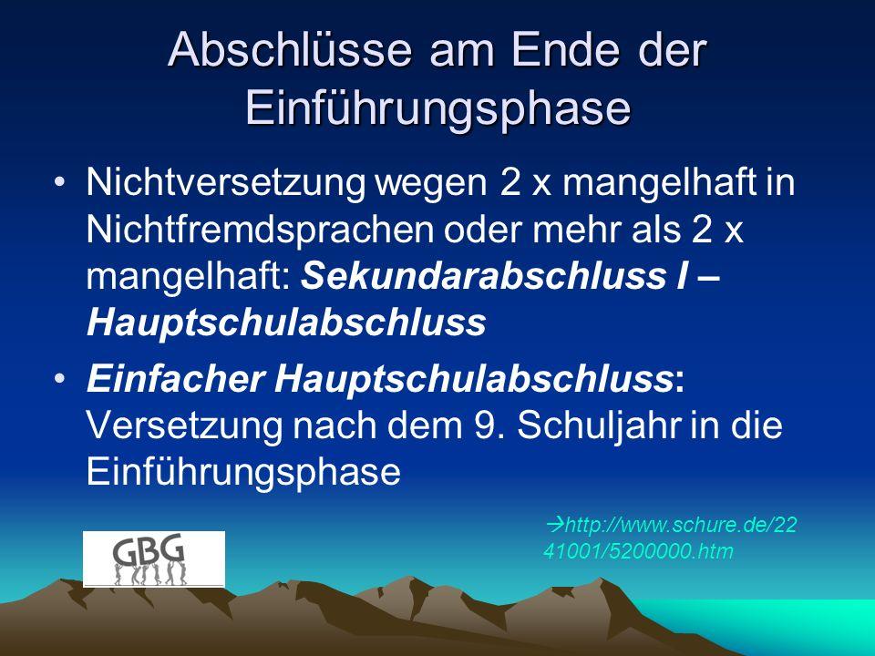 Berufsorientierung 14tägiges Betriebspraktikum in der Einführungsphase (11.01.